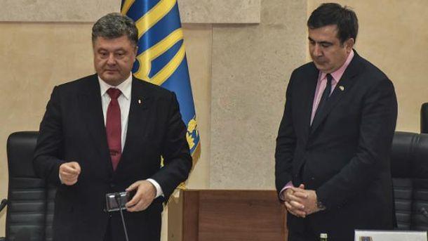 Петро Порошенко, Міхеїл Саакашвілі