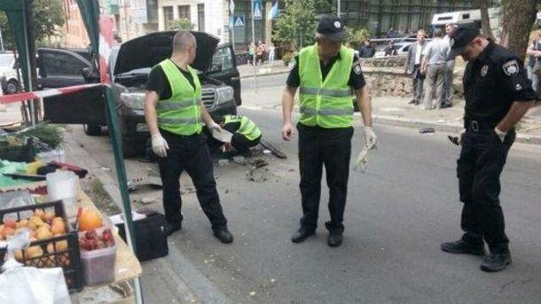 Взрыв джипа в Киеве