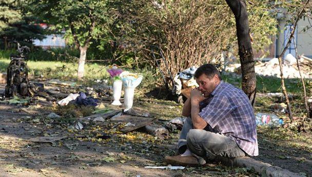 От рук террористов страдают и мирные жители Донбасса