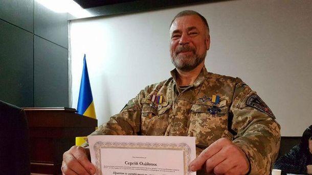 ВКиеве простились субитым уЗолотых ворот ветераном АТО Сергеем Олейником
