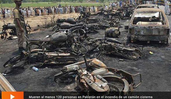 У Пакистані в пожежі з бензовозом загинули вже 140 людей