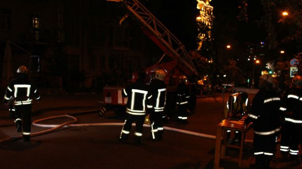 Вмногоэтажке столицы Украины вспыхнул пожар
