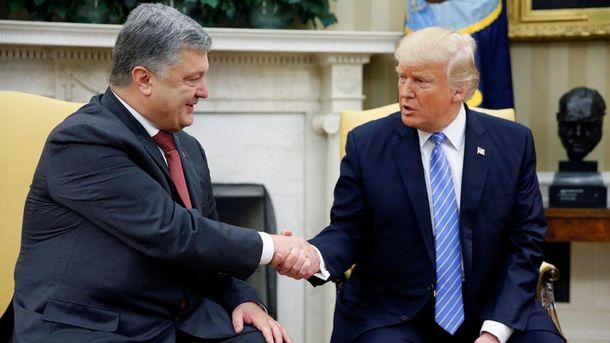 Встреча Порошенко и Трампа в США