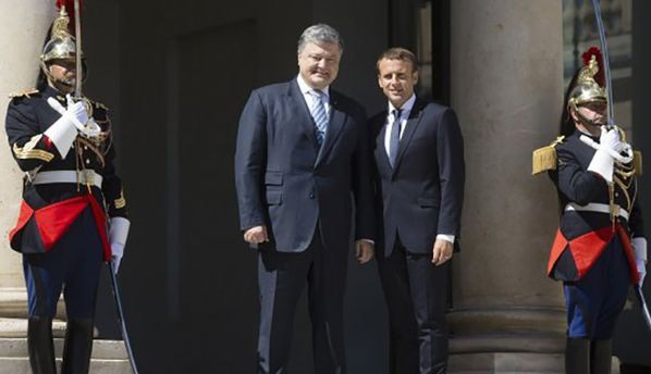 Первая встреча Порошенко и Макрона: результаты переговоров