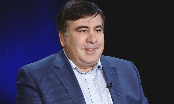 Саакашвили подловили в очереди за биометрическим паспортом