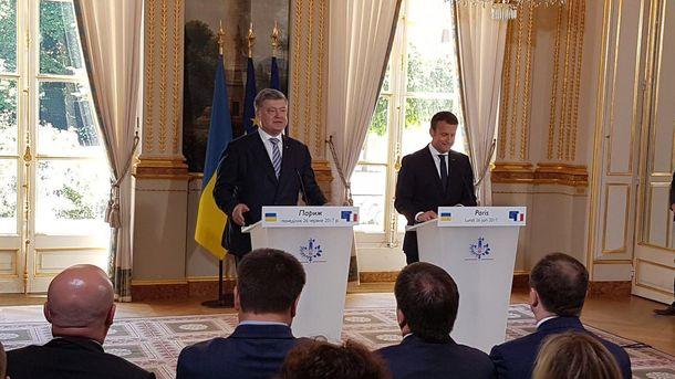 Зустріч Порошенка і Макрона у Франції