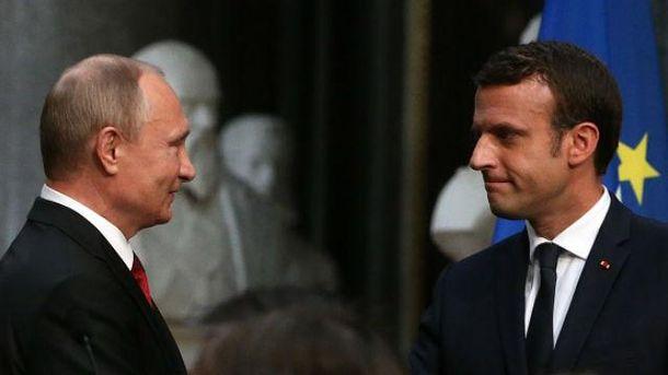 Встреча Макрона и Путина