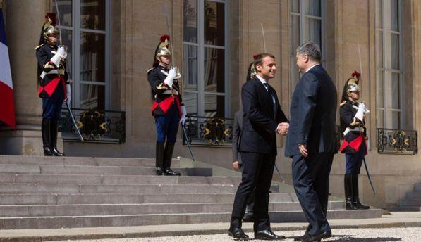 Встреча Порошенко и Макрона