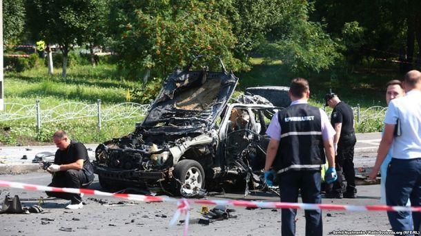 Вибух автомобіля в Києві: загинув Максим Шаповал