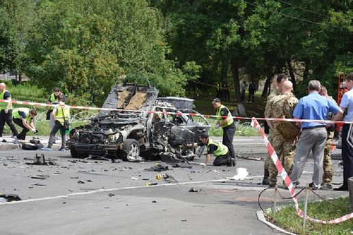 Взрыв авто в Киеве