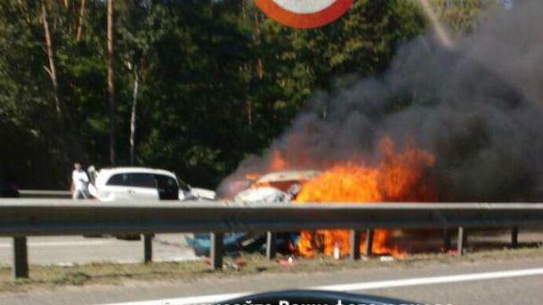 Масштабна аварія на Бориспільській трасі