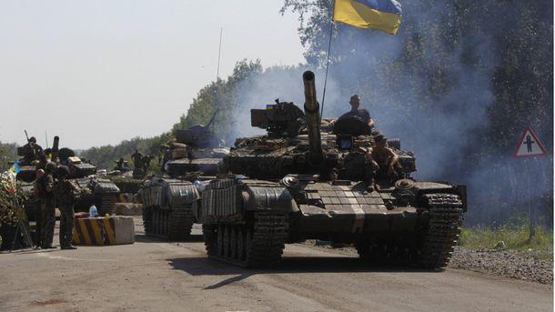 Украинские танки в зоне АТО