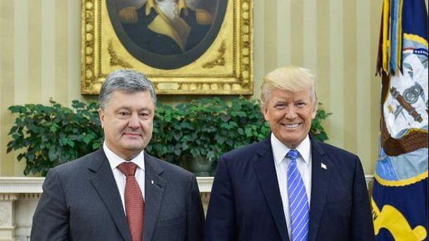 Петро Порошенко і Дональд Трамп