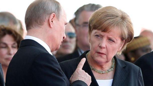 Как Меркель обычно смотрит на Путина