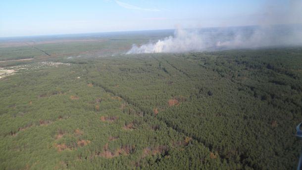 Пожежа у Чорнобильській зоні відчуження