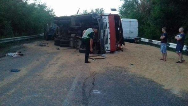 Масштабная авария на Николаевщине