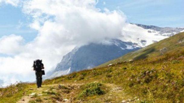 Туристка потерялась в горах