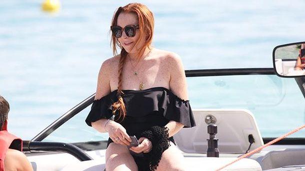 Линдси Лохан в купальнике