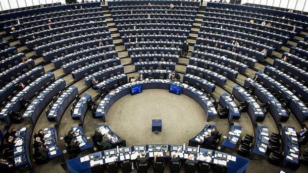 Пустой сессионный зал Европарламента
