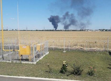 Взрыв на нефтебазе возле Одессы