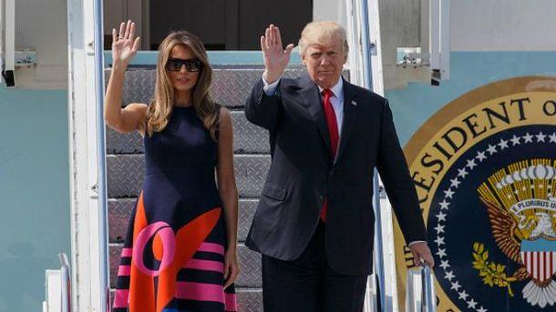 Дональд Трамп перебував з одноденним візитом у Варшаві