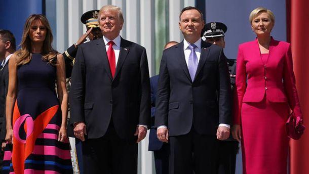 Меланія та Дональд Трамп, Анджей і Агата Дуда