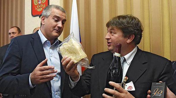 Сергій Аксьонов і  Стефано Вальдегамбері у Криму