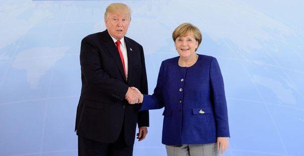 Трамп і Меркель провели коротку зустріч. Говорили про Донбас