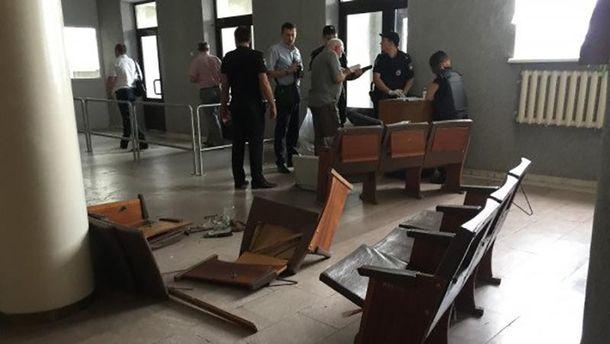 Место ранения журналиста в Кривом Роге