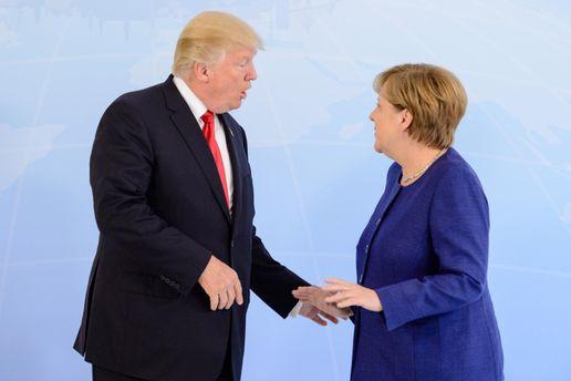 Дональд Трамп і Ангела Меркель