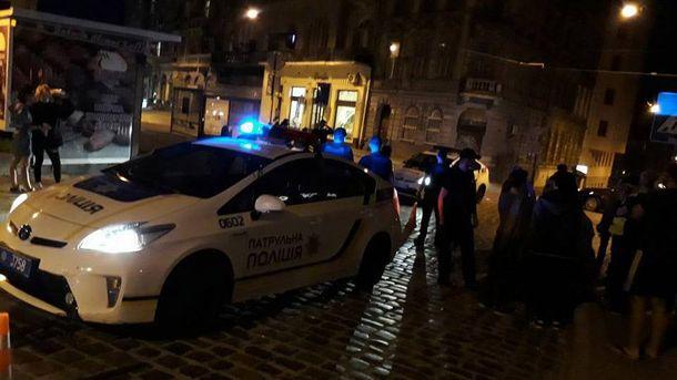 ДТП во Львове с участием патрульных