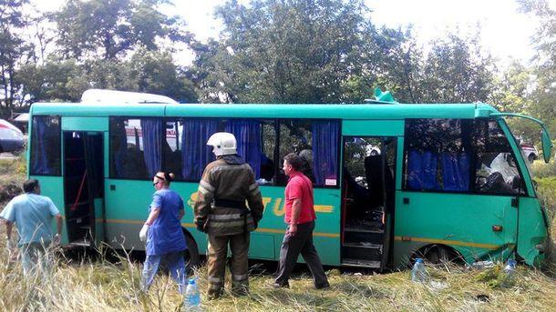 ДТП за участю пасажирського автобуса