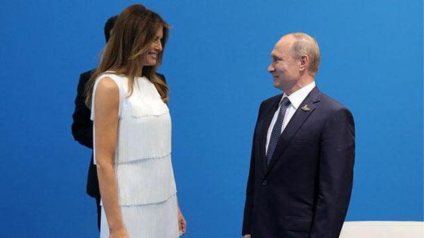 Владимир Путин впервые встретился с Меланией Трамп