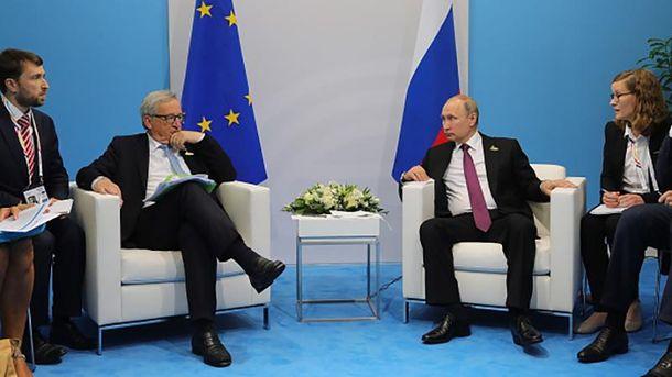 Встреча Владимира Путина и Жан-Клода Юнкера