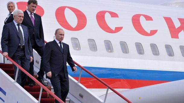 У Путина объяснили, почему его самолет сделал