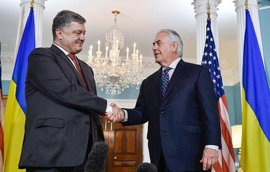 Встреча Порошенко и Тиллерсона началась в Киеве