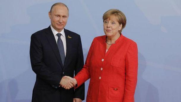Зустріч Меркель і Путіна