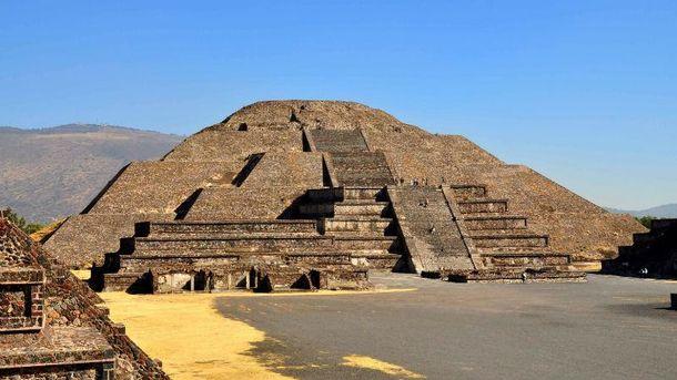 Пирамида в городе Теотиуакан