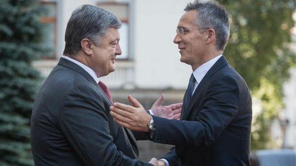 Встреча Порошенко и Столтенберга