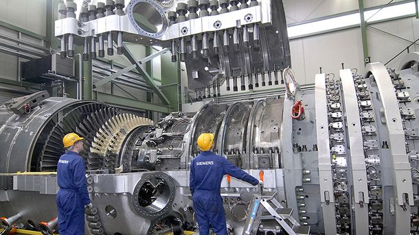 Німецькі турбіни Siemens (ілюстрація)