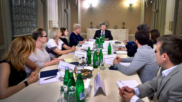 Встреча Порошенко с семьей Шеремета