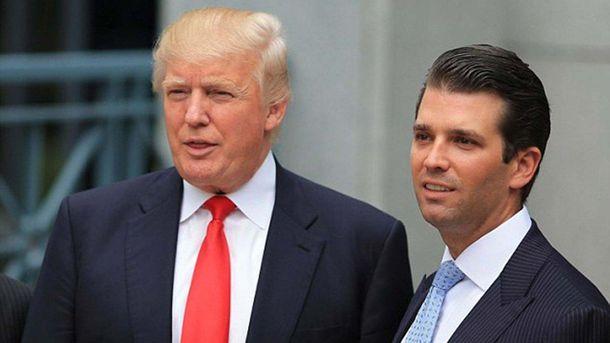 Президент США і його син Дональд Трамп-молодший