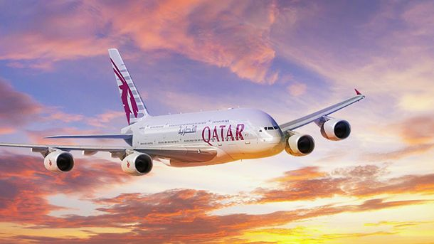 Авиакомпания Qatar Airways в Украине (Иллюстрация)