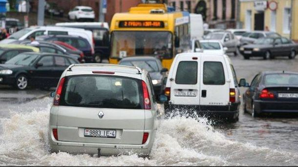 Часть Беларуси затопило после мощной грозы