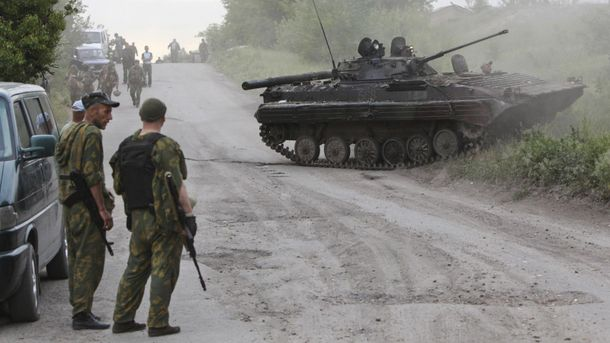 Террорист на Донбассе (иллюстрация)