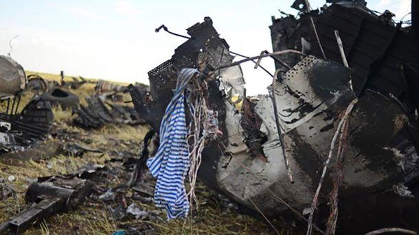 Сбитый Ил-76 в Луганске