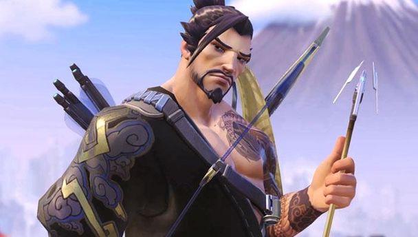 Герой Hanzo из компьютерной игры Overwatch