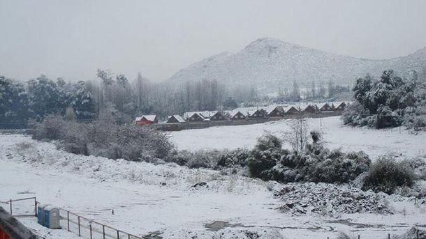 Снегопад в Чили