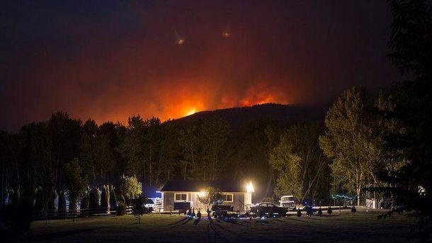 Лісові пожежі в Канаді
