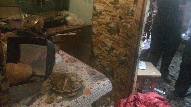 Последствия взрыва гранаты в Одессе